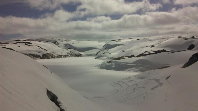 Überall nur Schnee, soweit das Auge reicht.