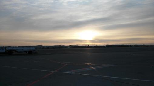 Die Sonne geht auf! Was für ein schöner Tag!