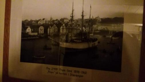 Die Fram in Stavanger. Da hat sich nicht so viel geändert in der Zeit.