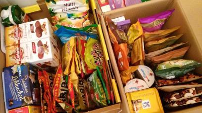 Unsere Süßigkeitenbox wird immer größer - besser ausgestattet wie manches Geschäft