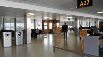 Schnuckliger Wartebereich in Oslo - hier kann man sogar sitzen