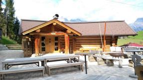 Unsere Hütte für die nächsten 4 Nächte