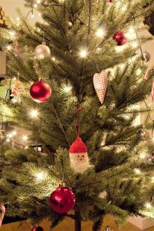Diesen tollen Weihnachtsmann hab ich von Christa bekommen, den hat sie selbst gemacht
