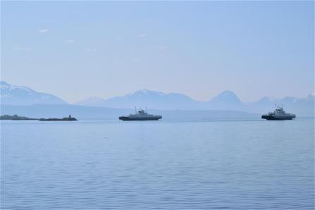 Aussicht von der Hafenmauer in Molde