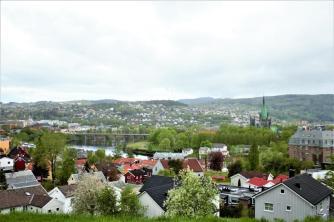 Blick über Trondheim