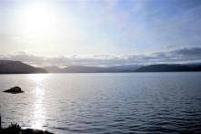 Ausblick vom Campingplatz auf den Randfjord