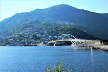 Die 100ste Brücke und der 5000ste km - Sogndal